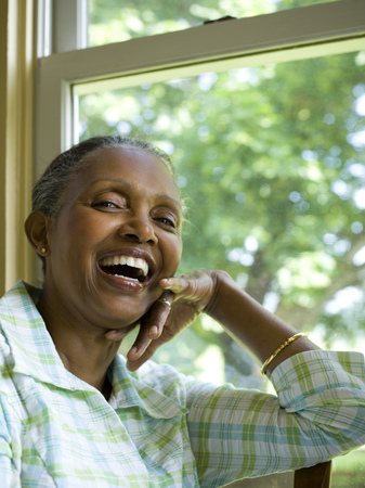 Portrait Of A Senior Woman Smiling