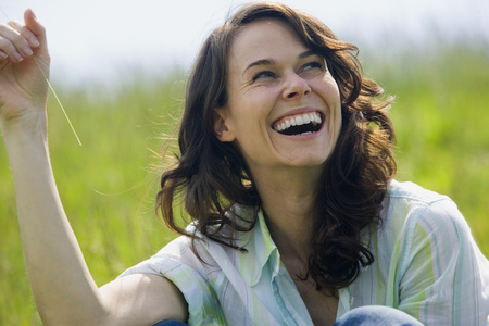 ebullient: Close-Up Of A Woman Laughing