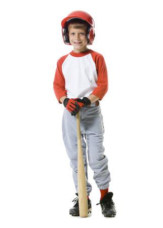 Retrato de un jugador de béisbol con un bate de béisbol LANG_EVOIMAGES