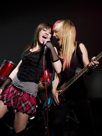 rocker girl: Two Girls In A Rock Band