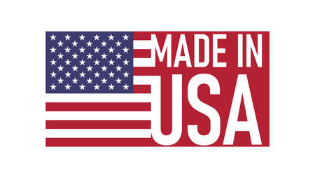 made in USA with the Flag Illustration