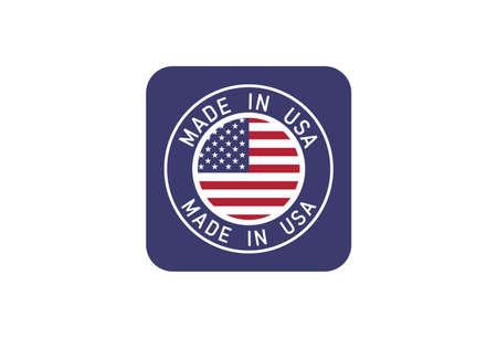 Made In USA stamp sticker vector design