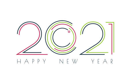 2021 technology image, Happy new year 2021