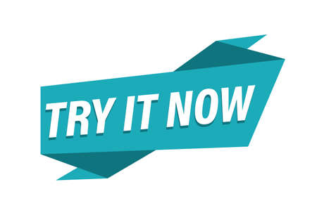 Try it now banner on white background