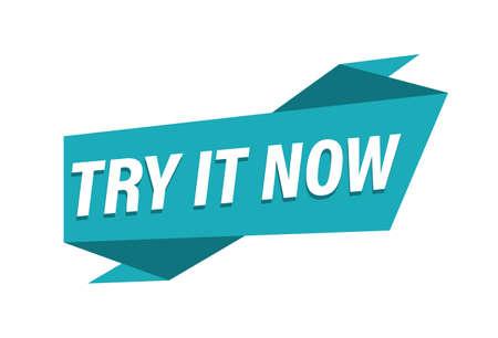 Try it now banner on white background Vektoros illusztráció