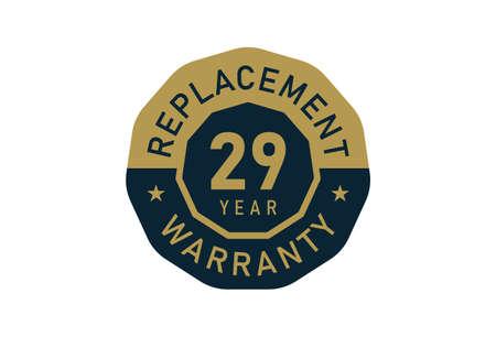 29 year replacement warranty, Replacement warranty images Illustration