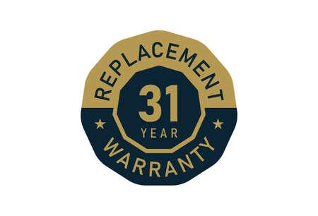 31 year replacement warranty, Replacement warranty images