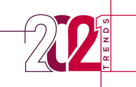 Trends 2021 image on white background