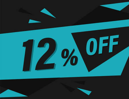 12% OFF Discount Banner, 12% OFF Special offer