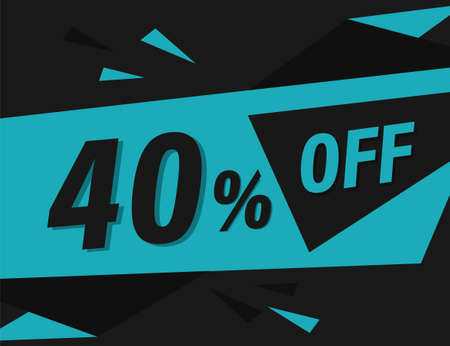 40% OFF Discount Banner, 40% OFF Special offer