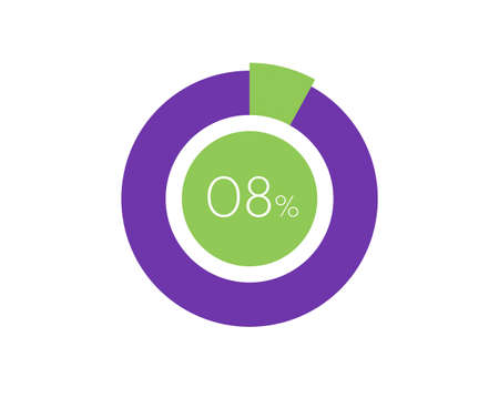 8% Percentage, 8 Percentage Circle diagram infographic