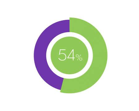 54% Percentage, 54 Percentage Circle diagram infographic