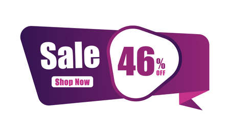 46% discount Sales banner, 46 percent Banners, New offer Discount sign banner 向量圖像