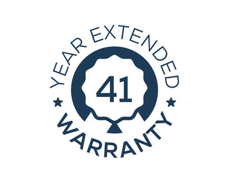 41 Years Warranty images, 41 Year Extended Warranty logos