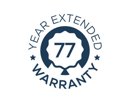 77 Years Warranty images, 77 Year Extended Warranty logos Logo