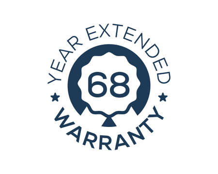 68 Years Warranty images, 68 Year Extended Warranty logos