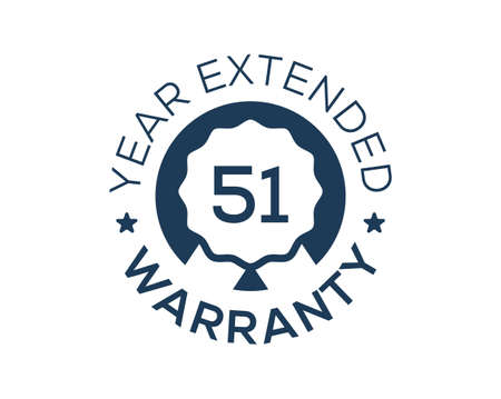 51 Years Warranty images, 51 Year Extended Warranty logos