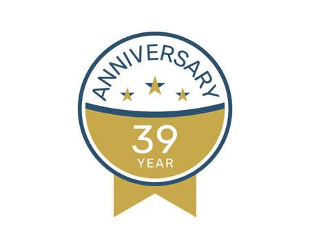39 anniversary logo vector templates, 39 years anniversary design