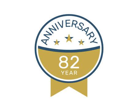 82 anniversary logo vector templates, 82 years anniversary design