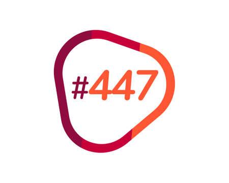 Number 447 image design, 447 logos 向量圖像