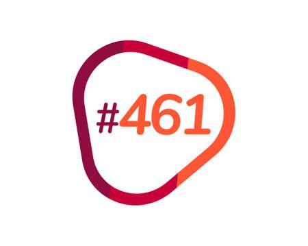 Number 461 image design, 461 logos 向量圖像