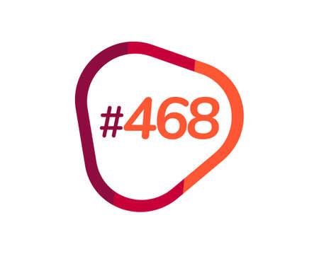 Number 468 image design, 468 logos 向量圖像