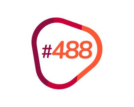Number 488 image design, 488 logos 向量圖像