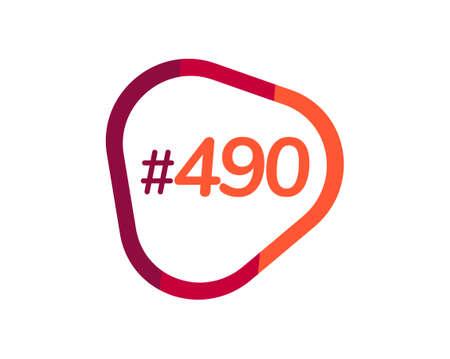 Number 490 image design, 490 logos