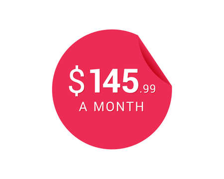 Monthly $145.99 US Dollars icon, $145.99 a Month tag