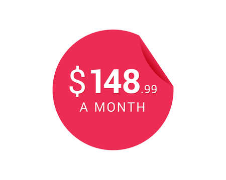 Monthly $148.99 US Dollars icon, $148.99 a Month tag