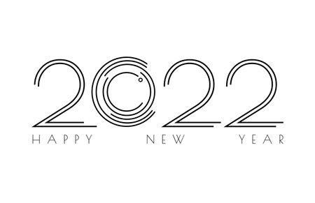 2022 image. 2022 Modern image colorful circle lines