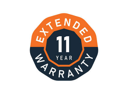 11 year warranty badges isolated on white background. 11 years Extended warranty Vector Illustration
