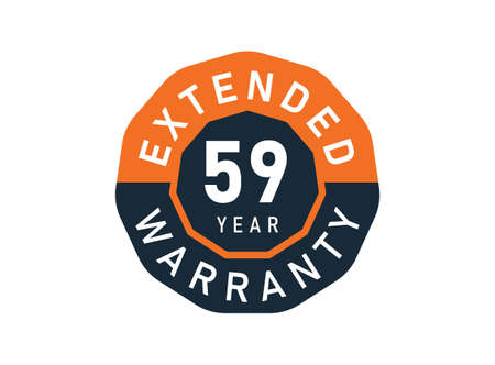 59 year warranty badges isolated on white background. 59 years Extended warranty