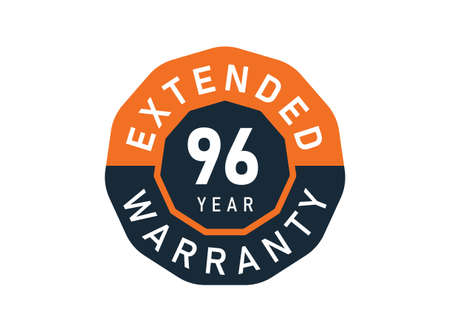 96 year warranty badges isolated on white background. 96 years Extended warranty