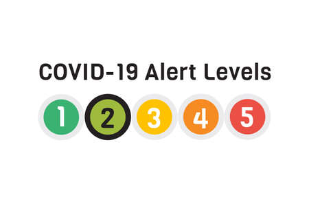 COVID 19 Alert Levels 2 Awareness 向量圖像