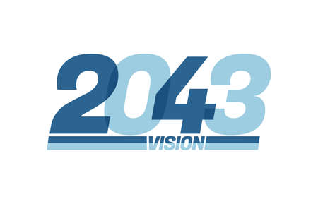 Happy new year 2043. Typography 2043 vision, 2043 New Year banner