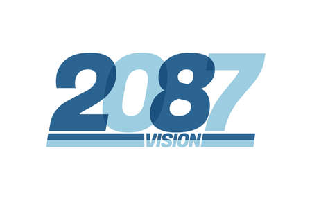 Happy new year 2087. Typography 2087 vision, 2087 New Year banner Illusztráció