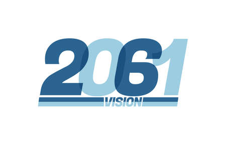 Happy new year 2061. Typography 2061 vision, 2061 New Year banner