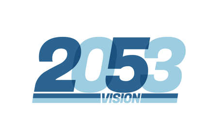 Happy new year 2053. Typography 2053 vision, 2053 New Year banner