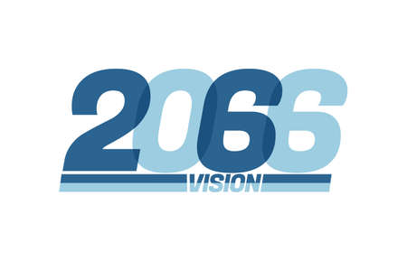 Happy new year 2066. Typography 2066 vision, 2066 New Year banner