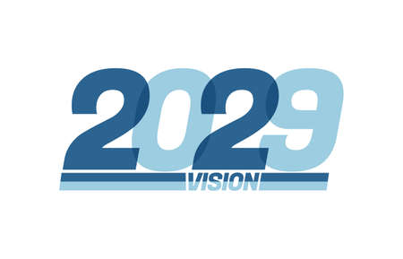 Happy new year 2029. Typography 2029 vision, 2029 New Year banner