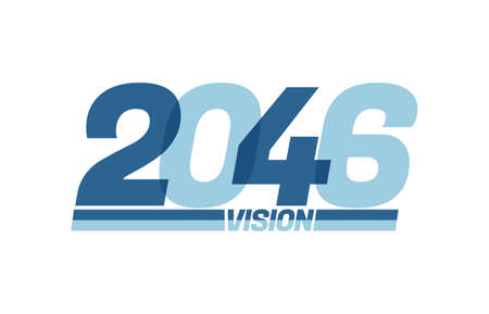 Happy new year 2046. Typography 2046 vision, 2046 New Year banner Illusztráció