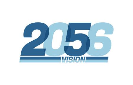 Happy new year 2056. Typography 2056 vision, 2056 New Year banner Illusztráció