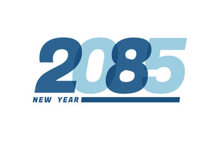 Happy New Year 2085. Happy New Year 2085 text design for Brochure design, card, banner