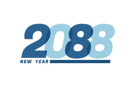 Happy New Year 2088. Happy New Year 2088 text design for Brochure design, card, banner