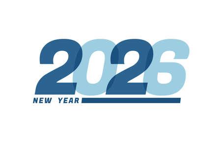 Happy New Year 2026. Happy New Year 2026 text design for Brochure design, card, banner Illusztráció