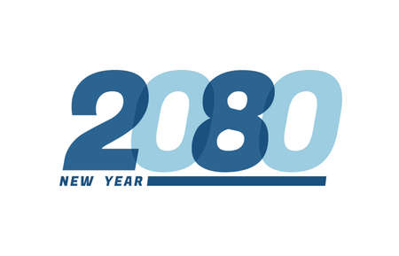 Happy New Year 2080. Happy New Year 2080 text design for Brochure design, card, banner
