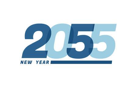 Happy New Year 2055. Happy New Year 2055 text design for Brochure design, card, banner Illusztráció