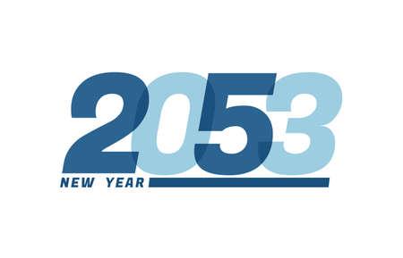 Happy New Year 2053. Happy New Year 2053 text design for Brochure design, card, banner Illusztráció