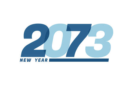 Happy New Year 2073. Happy New Year 2073 text design for Brochure design, card, banner